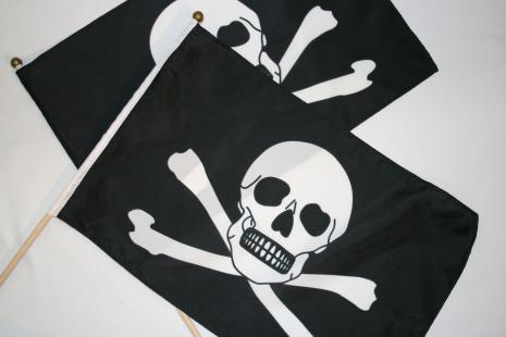 Piratflagga 60x90cm pinne