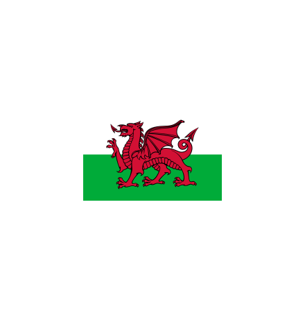 Wales 16 cm Bordsflagga