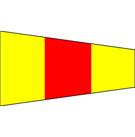 """Signalvimpel 75 cm """"0"""""""