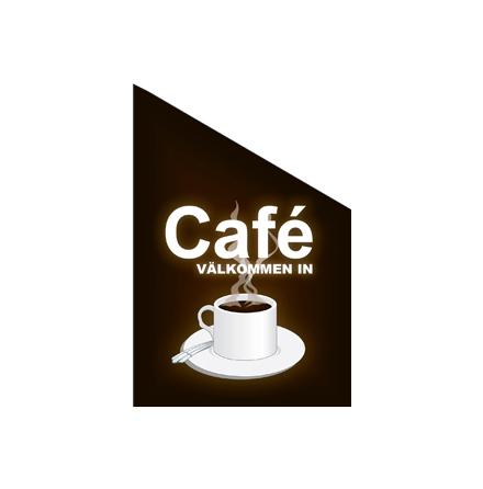 Cafe Fasadflagga 60x40 cm tyg