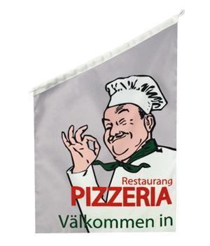 Pizza Fasadflagga 60x40cm tyg