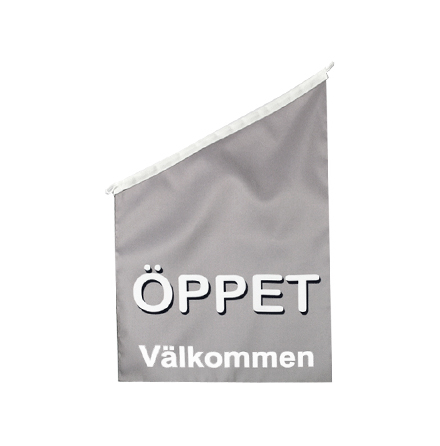 Öppet Fasadflagga 60x40cm tyg