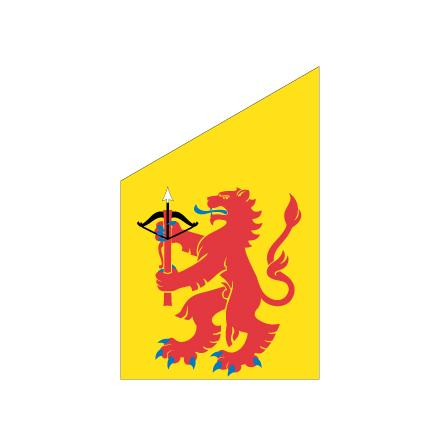 Småland fasadflagga 75 cm