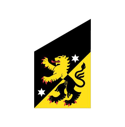 Västergötland fasadflagga 80cm