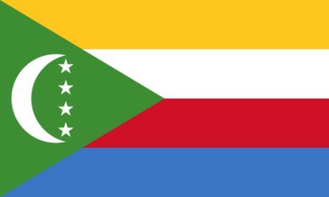 Komorerna 24 cm Bordsflagga