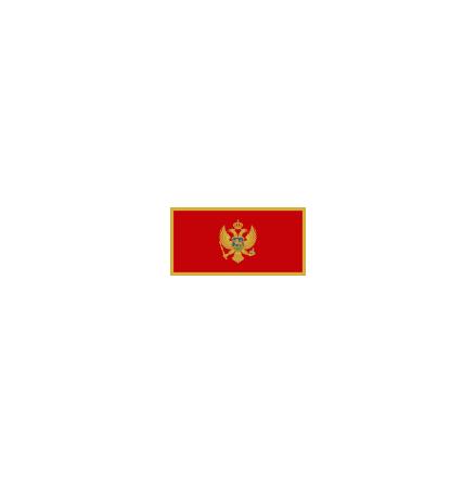 Montenegro 16 cm Bordsflagga
