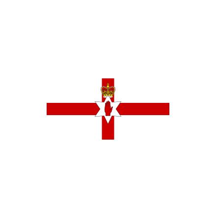 Nordirland 24 cm Bordsflagga