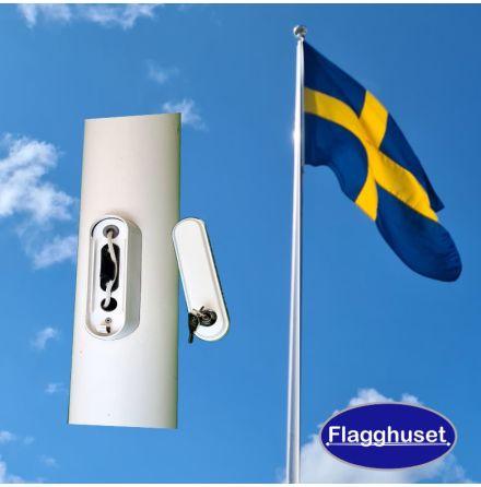 Flaggstång - Lucka lås (6-18m)