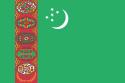 Turkmenistan 16 cm Bordsflagga